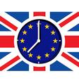 Brexit clock vector image vector image