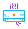 broken office conditioner thin line icon vector image vector image