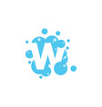 bubble with initial letter w graphic design vector image