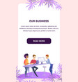 business colleagues at working process in office vector image vector image