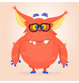 cartoon of a red halloween monster vector image vector image