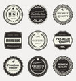 collection premium quality labels vector image vector image