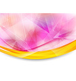 Colorful transparent banner with border vector image