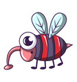 dangerous fly icon cartoon style vector image vector image