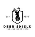 deer shield logo design inspiration vector image vector image