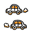 doodle simple cars vector image vector image