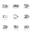 drawing arrows vector image vector image