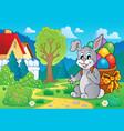 easter bunny theme image 7 vector image