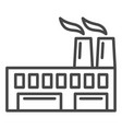 eco friendly factory icon outline style vector image