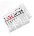 fake news realistic newspaper isolated vector image vector image