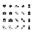flat medical pharmacy icons set vector image vector image