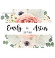 Floral wedding invitation invite save the date