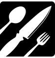 Fork knife tablespoon sign icon Flat design vector image vector image