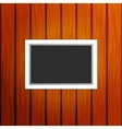 Frame on a wall vector image