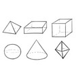 geometric shapes different figures vector image vector image