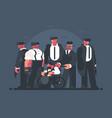 godfather mafia vector image