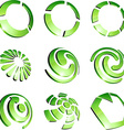 Green vibrant logo set vector image