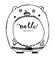 Hello hand drawn lettering vector image vector image