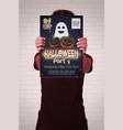 helloween poster vector image