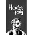 Hipster party for poster or greeting card vintage vector image vector image