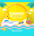 hot vacation design template summer travel enjoy vector image