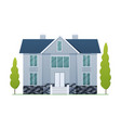 houses exterior front view vector image vector image