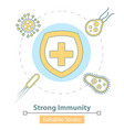 icon strong immune system protection vector image vector image