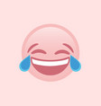 isolated pink laugh and crying tear flat icon vector image vector image