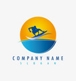 logo surf vector image