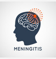 meningitis logo icon design vector image