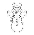merry christmas snowman character vector image vector image
