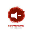 mute volume icon - red watercolor circle splash vector image vector image