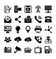 network and communication icons 4 vector image vector image