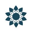organic and natural emblem and logo design vector image vector image