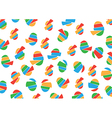 Pattern with Eggs vector image