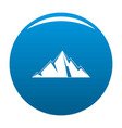 pointing mountain icon blue vector image