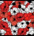 poppy flower seamless pattern vector image vector image