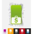 portfolio paper sticker with hand drawn elements vector image
