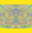 rainbow psychedelic colorful symmetrical pattern vector image vector image