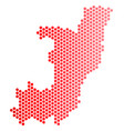 red dot republic of the congo map vector image vector image