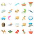 repair icons set cartoon style vector image