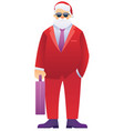 santa in business suit vector image