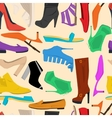 Seamless pattern of women shoes vector image vector image