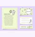 set of card templates with floral elements vector image