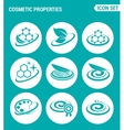 set of round icons white Cosmetic properties vector image