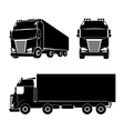 Silhouette truck icon vector image