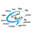 social media network speech words vector image vector image