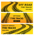 tire track trails banners car truck wheel prints