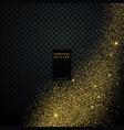transparent golden glitter background vector image