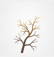 tree branch without leaves silhouette tree branch vector image vector image